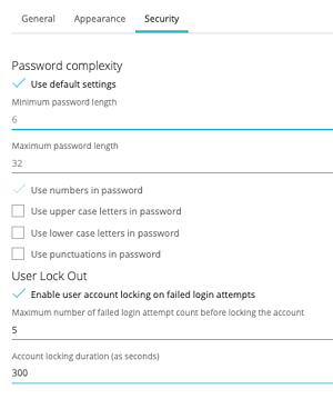 Settings Security